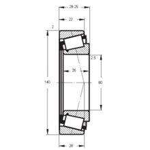 Cuscinetto 30216 A FLT-PBF 80x140x28,25