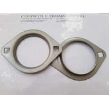 Flangia supporto PFL205-SS INOX con forma ovale Import