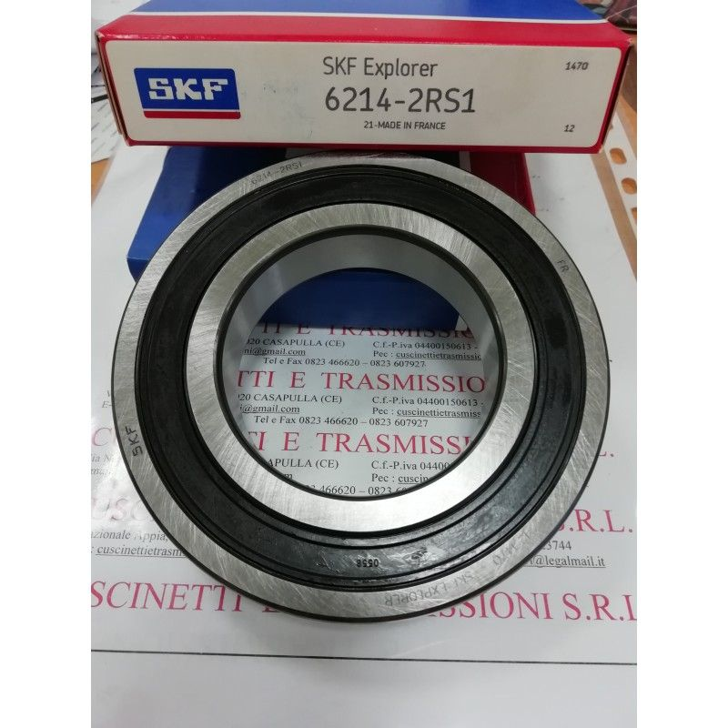 Cuscinetto 6214-2RS1 SKF 70x125x24 Weight 1,0951 6214-2RS1,62142RS,6214-2RS,6214-C-2HRS,62142RS1,6214DDU,6214SK