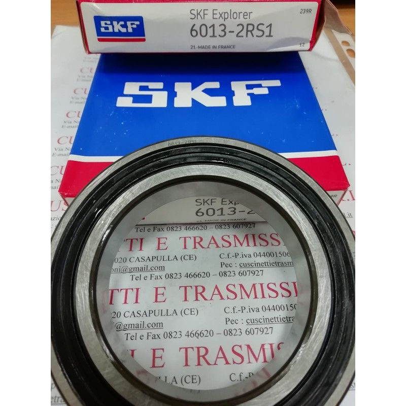 Cuscinetto 6013-2RS1 SKF 65x100x18 Weight 0,4414 6013-2RS1,60132RS,6013-2RS,6013-C-2HRS,60132RS1,6013DDU,6013LLU