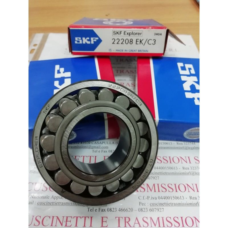 Cuscinetto 22208 EK/C3 SKF 40x80x23 Weight 0,5098 22208KC3,22208EKC3