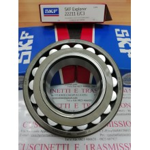 Cuscinetto 22211 E/C3 SKF 55x100x25 Weight 0,8155 22211EC3