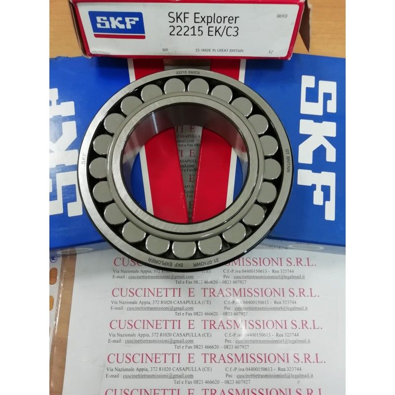 Cuscinetto 22215 EK/C3 SKF 75x130x31 Weight 1,6457 22215EKC3