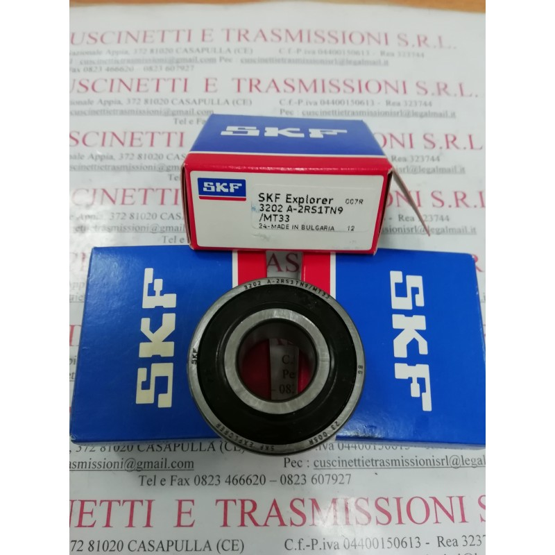 Cuscinetto 3202 A-2RS1TN9/MT33 SKF 15x35x15,9 Weight 0,066 32022RS,3202-2RS,3202A2RS1TN9MT33