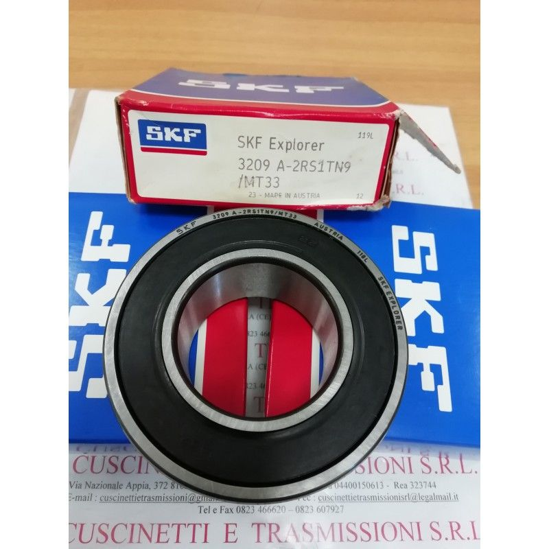 Cuscinetto 3209 A-2RS1TN9/MT33 SKF 45x85x30,2 Weight 0,64 32092rs,3209-2rs,3209a2rs1tn9mt33,3209bdxl2hrstvh,5209-2rs