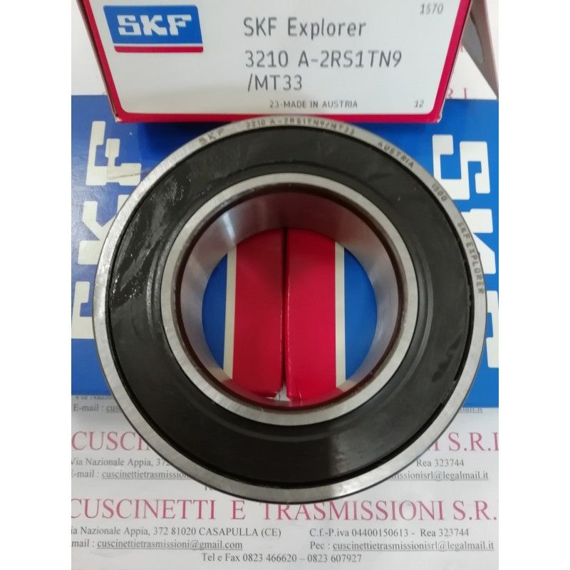 Cuscinetto 3210 A-2RS1TN9/MT33 SKF 50x90x30,2 Weight 0,673 32102rs,3210-2rs,3210a2rs1tn9mt33,3210bdxl2hrstvh,5210-2rs