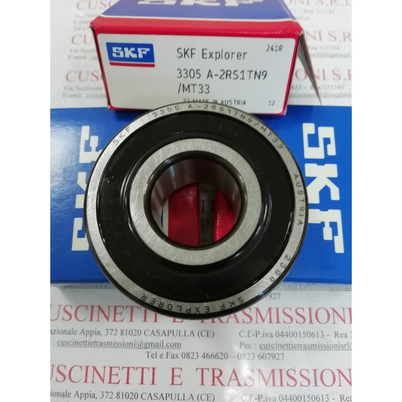 Cuscinetto 3305 A-2RS1TN9/MT33 SKF 25x62x25,4 Weight 0,35 3305A2RS1TN9MT33,3305-2RS,3305BDXL2HRS,3305BD2HRS