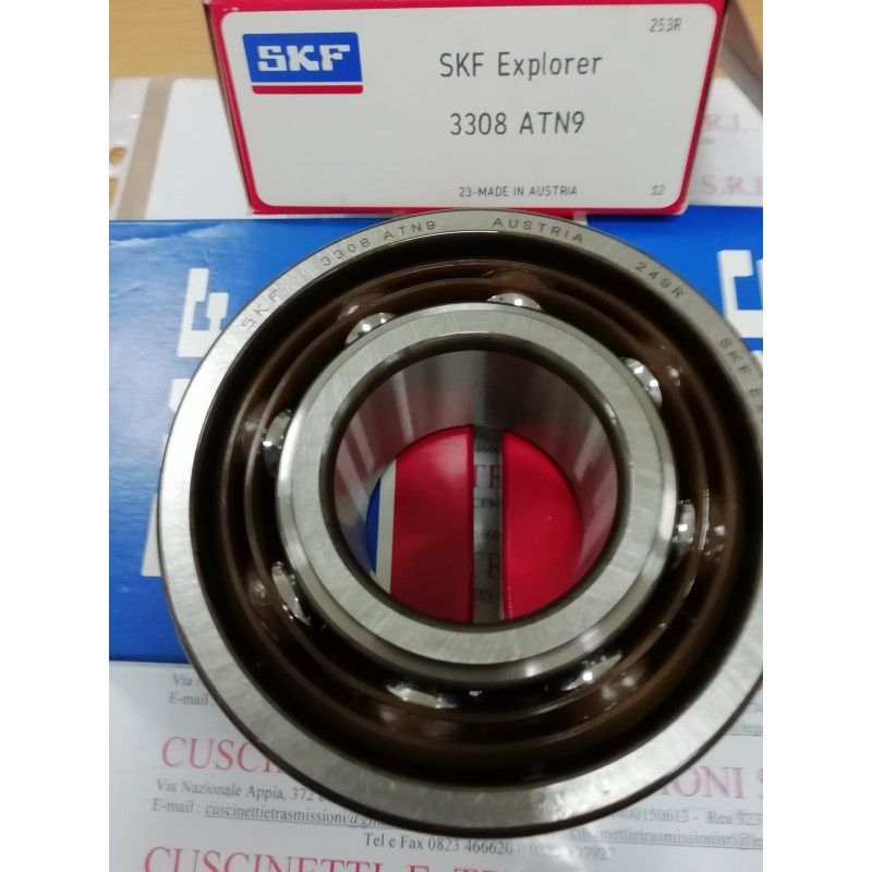 Cuscinetto 3308 ATN9 SKF 40x90x36,5 Weight 0,9418 3308,3308ATN9,3308BDXL