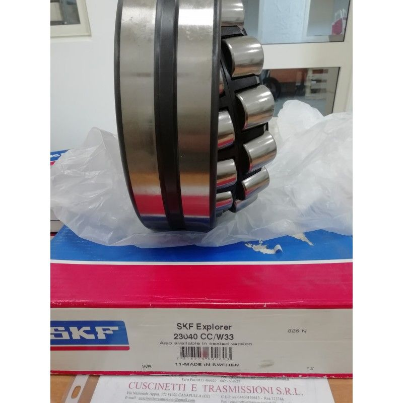 Cuscinetto 23040 CC/W33 SKF 200x310x82 Weight 22,178 23040CCW33