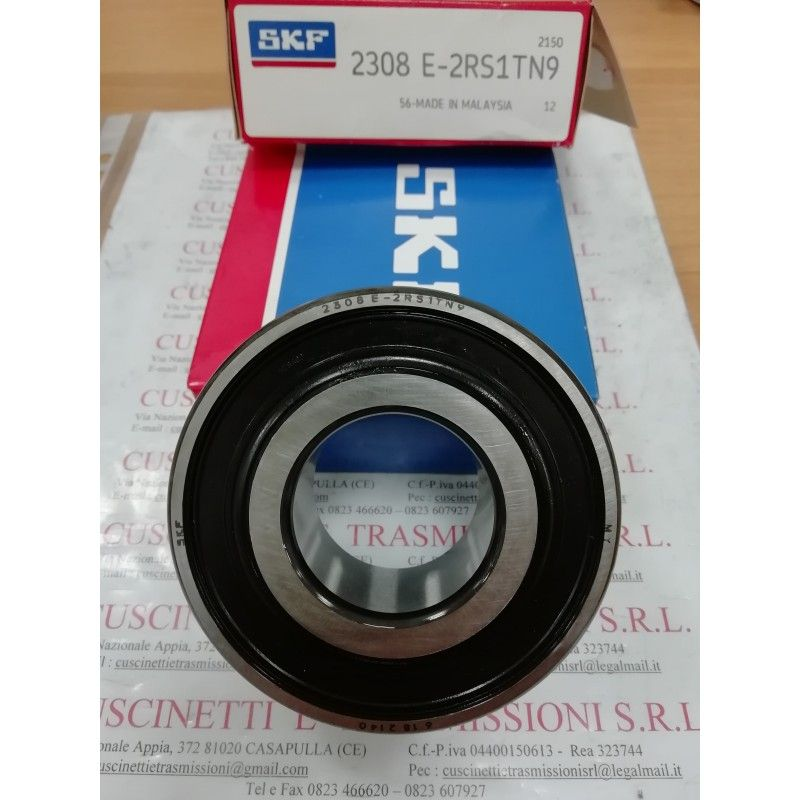 Cuscinetto 2308 E-2RS1TN9 SKF 40x90x33 Weight 0,916 23082RS,2308E2RS1TN9,23082RSTVH