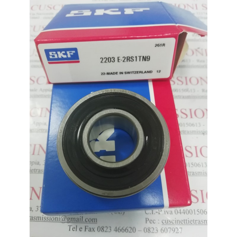 Cuscinetto 2203 E-2RS1TN9 SKF 17x40x16 Weight 0,089 2203E2RS1TN9,22032RS,2203-2RS,2203-2RS-TVH,2203,