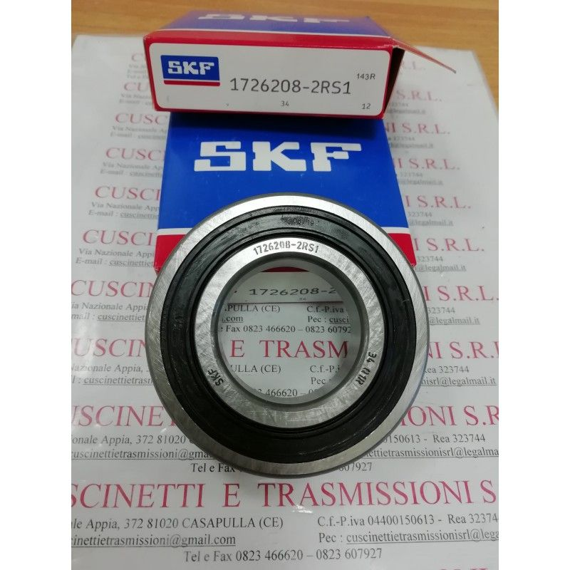 Cuscinetto 1726208-2RS1 SKF 40x80x18 Weight 0,346 17262082rs1,1726208,208nppb,6208see,cs208,cs208llu,ud208,k6208