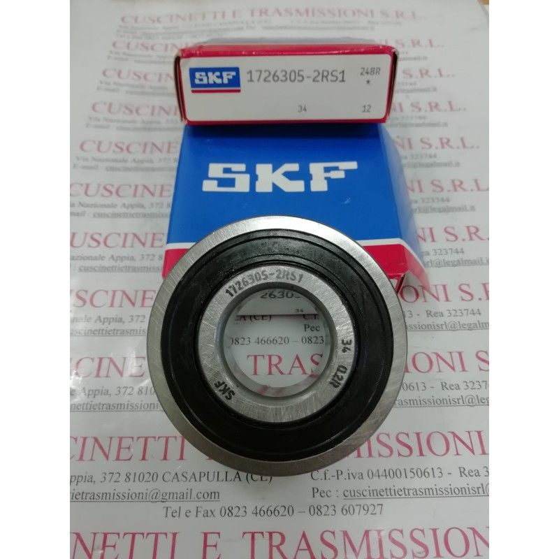 Cuscinetto 1726305-2RS1 SKF 25x62x17 Weight 0,215 17263052rs1,1726305,305nppb,6305see,cs305,cs305llu,ud305,k6305