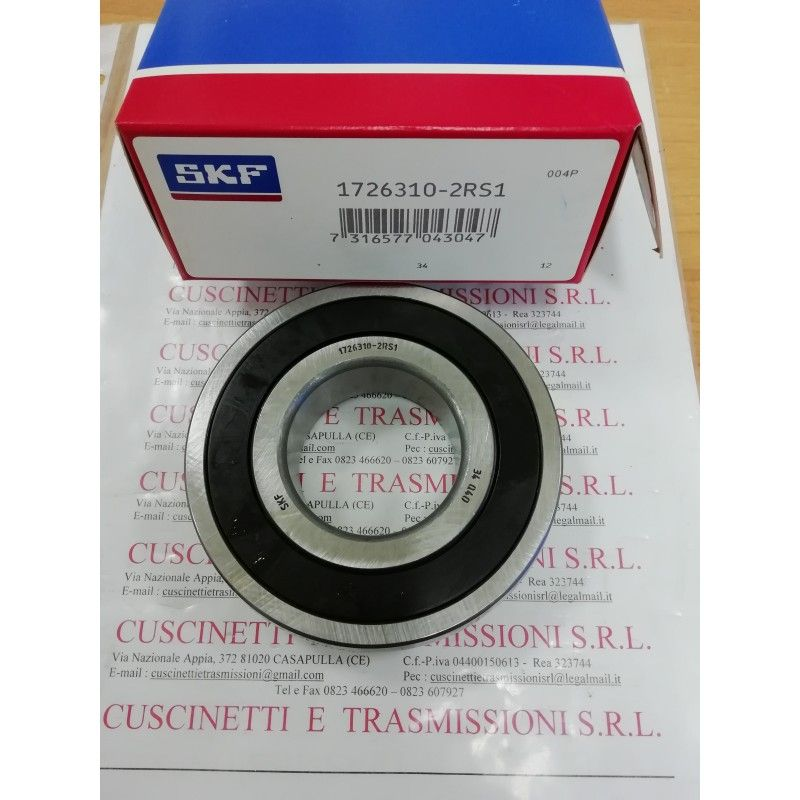 Cuscinetto 1726310-2RS1 SKF 50x110x27 Weight 1,023 17263102rs1,1726310,310nppb,6310see,cs310,cs310llu,ud310,k63109