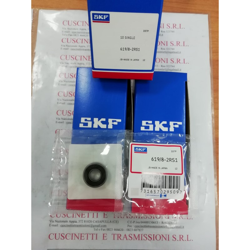 Cuscinetto 619/8-2RS1 SKF 8x19x6 Weight 0,0069 61982RS1,619/82RS,619/8-2RS