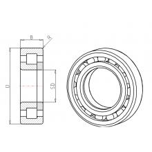 Cuscinetto NUP 2304 E TVP2 KOYO (20x52x21) Weight 0,22 NUP2304ETVP2