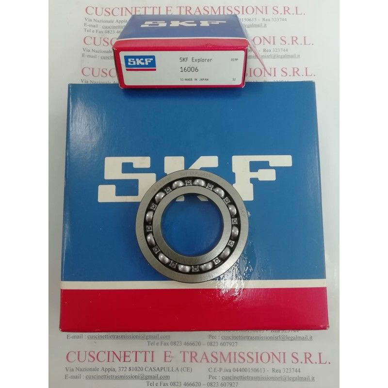 Cuscinetto 16006 SKF 30x55x9 Weight 0,085 16006