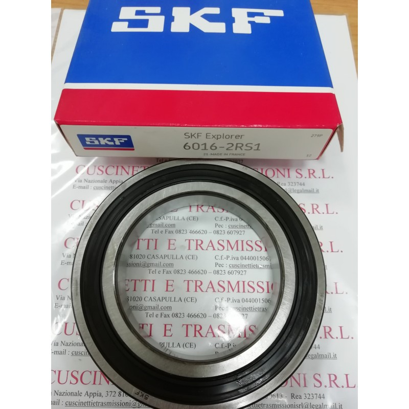 Cuscinetto 6016-2RS1 SKF 80x125x22 Weight 0,8694 6016-2RS1,60162RS,6016-2RS,6016-C-2HRS,60162RS1,6016DDU,6016LLU