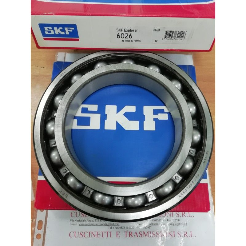 Cuscinetto 6026 SKF 130x200x33 Weight 3,2004 6026