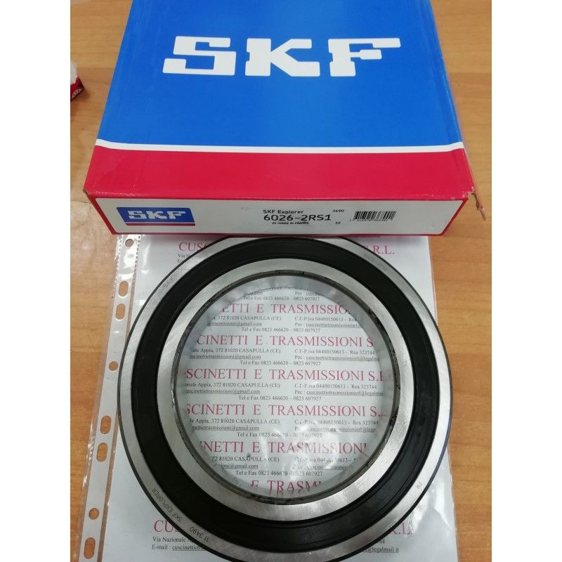 Cuscinetto 6026-2RS1 SKF 130x200x33 Weight 3,2652 6026-2RS1,60262RS,6026-2RS,6026-C-2HRS,60262RS1,6026DDU,6026LLU
