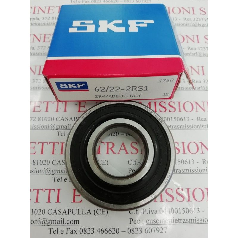 Cuscinetto 62/22-2RS1 SKF 22x50x14 Weight 0,117 62/222RS1,62/22-2RS