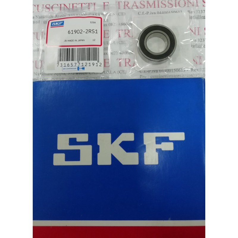 Cuscinetto 61902-2RS1 SKF 15x28x7 Weight 0,0159 619022RS,61902-2RSR-HLC,6902-2RS,69022RS,61902-2RS,619022RS1,