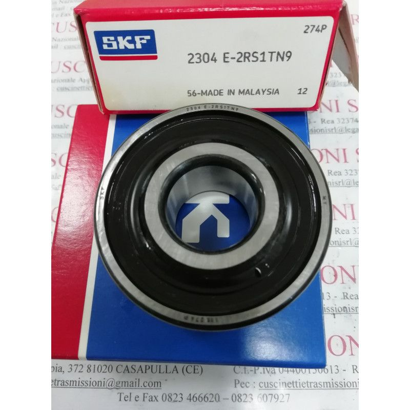 Cuscinetto 2304 E-2RS1TN9/C3 SKF 20x52x21 Weight 0,227 2304E2RS1TN9C3