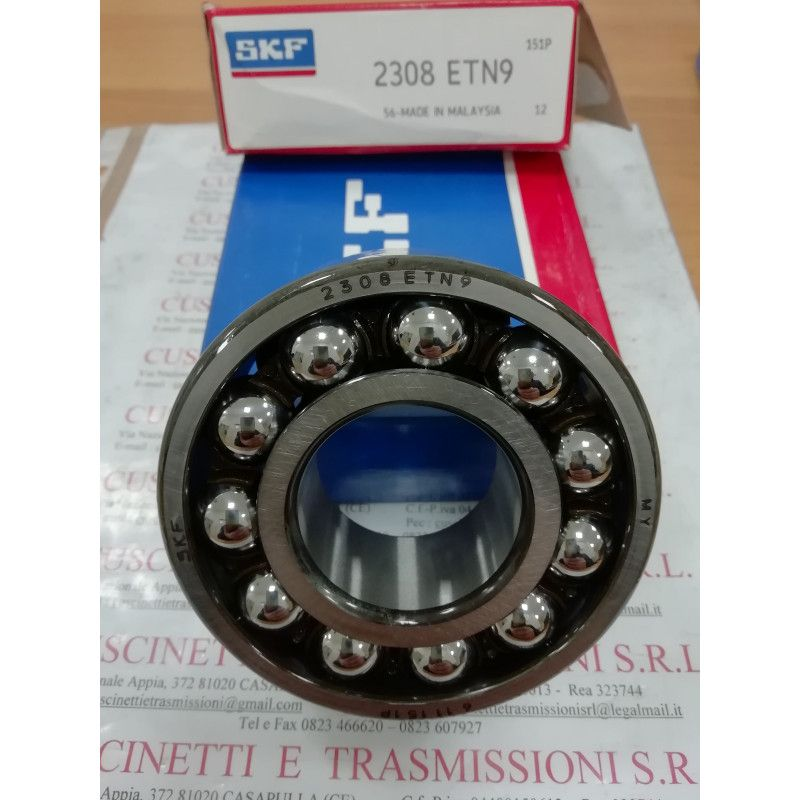 Cuscinetto 2308 ETN9/C3 SKF 40x90x33 Weight 0,884 2308ETN9C3,2308C3