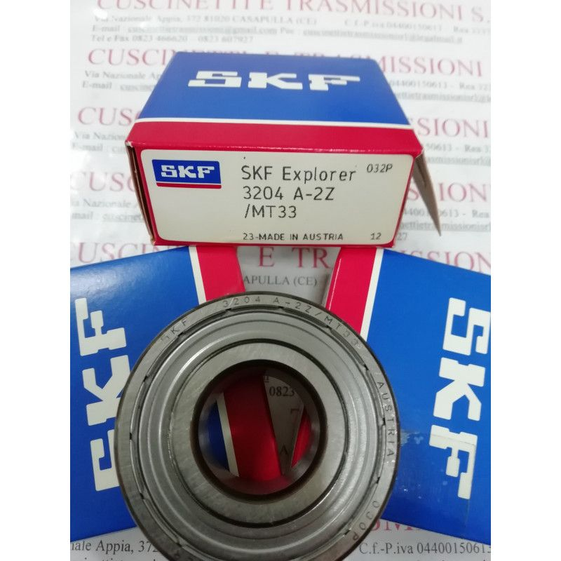 Cuscinetto 3204 A-2ZTN9/MT33 SKF 20x47x20,6 Weight 0,1556 32042Z,3204A2ZTN9MT33,