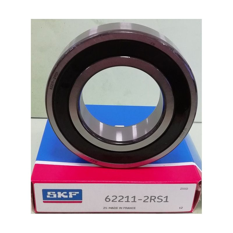 Cuscinetto 62211-2RS1 SKF 55x100x25 Peso 0,729 622112rs,62211-2rs-,622112rs1,62211-a-2rsr,62211-2rs1
