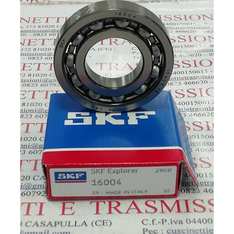 Cuscinetto 16004 SKF 20x42x8 Weight 0,0488 16004